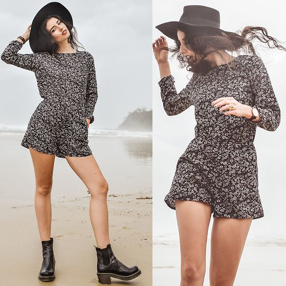 86b95899c3 Black Ankle Boots, Sheinside Long Sleeve One Piece | Elle-May ...