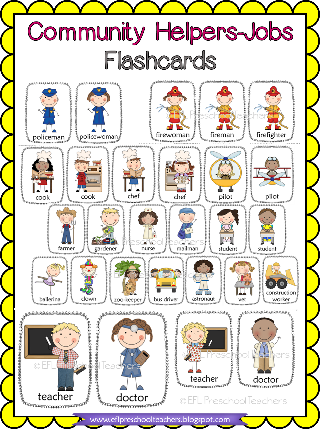 Esl Community Helper Flashcards In