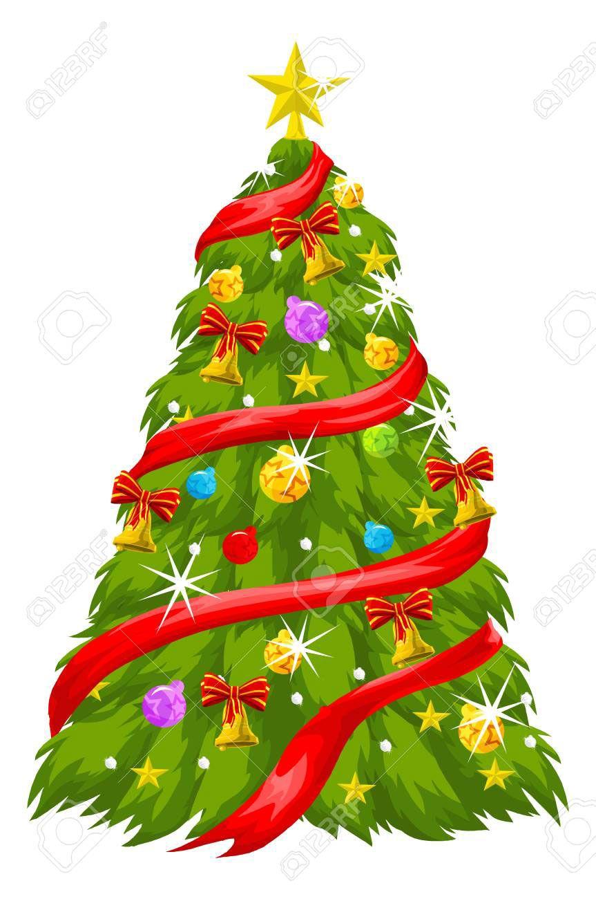 14 Unique Christmas Tree Vector Desain
