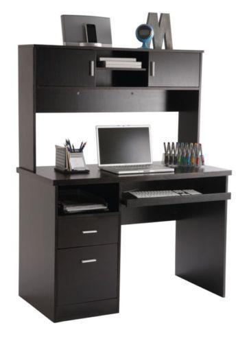 New Espresso Computer Pc Desk Home Office Notebook Study Table Printer Shelf 12 Muebles Para Computadora Muebles Para Pc Muebles
