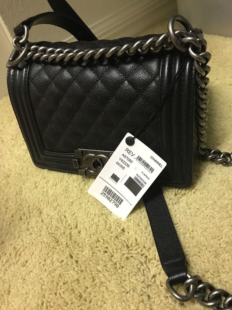 Chanel Boy Bag Small Black New With Tags Chanel Boy Bag Small Bags Chanel Boy Bag Small