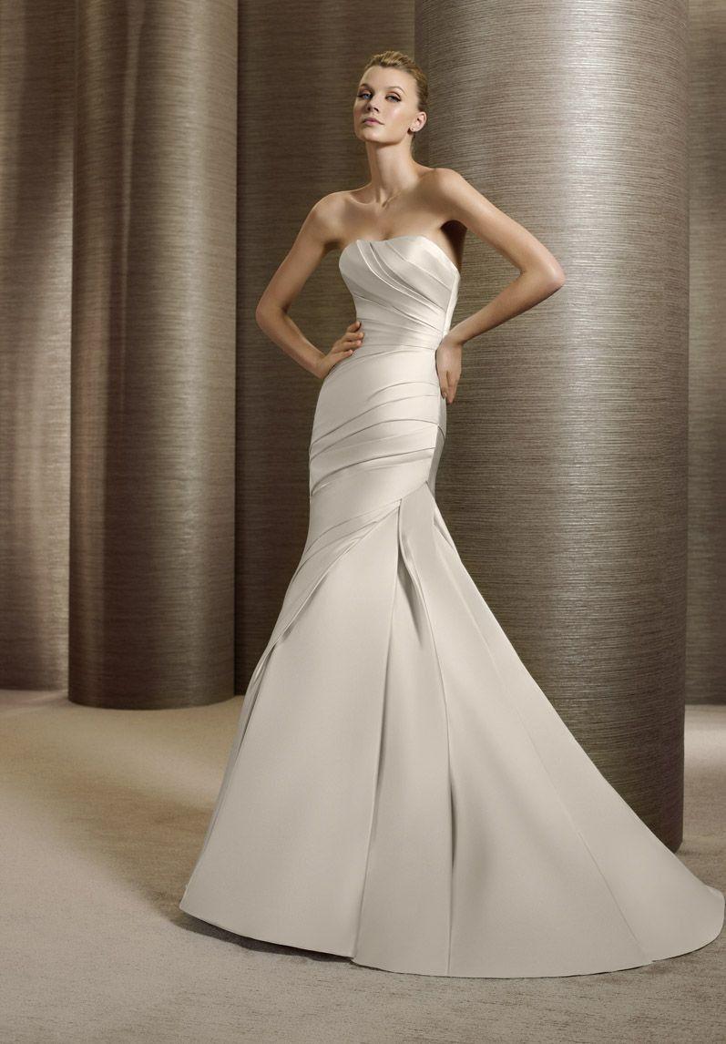 Mermaid Satin Wedding Dress
