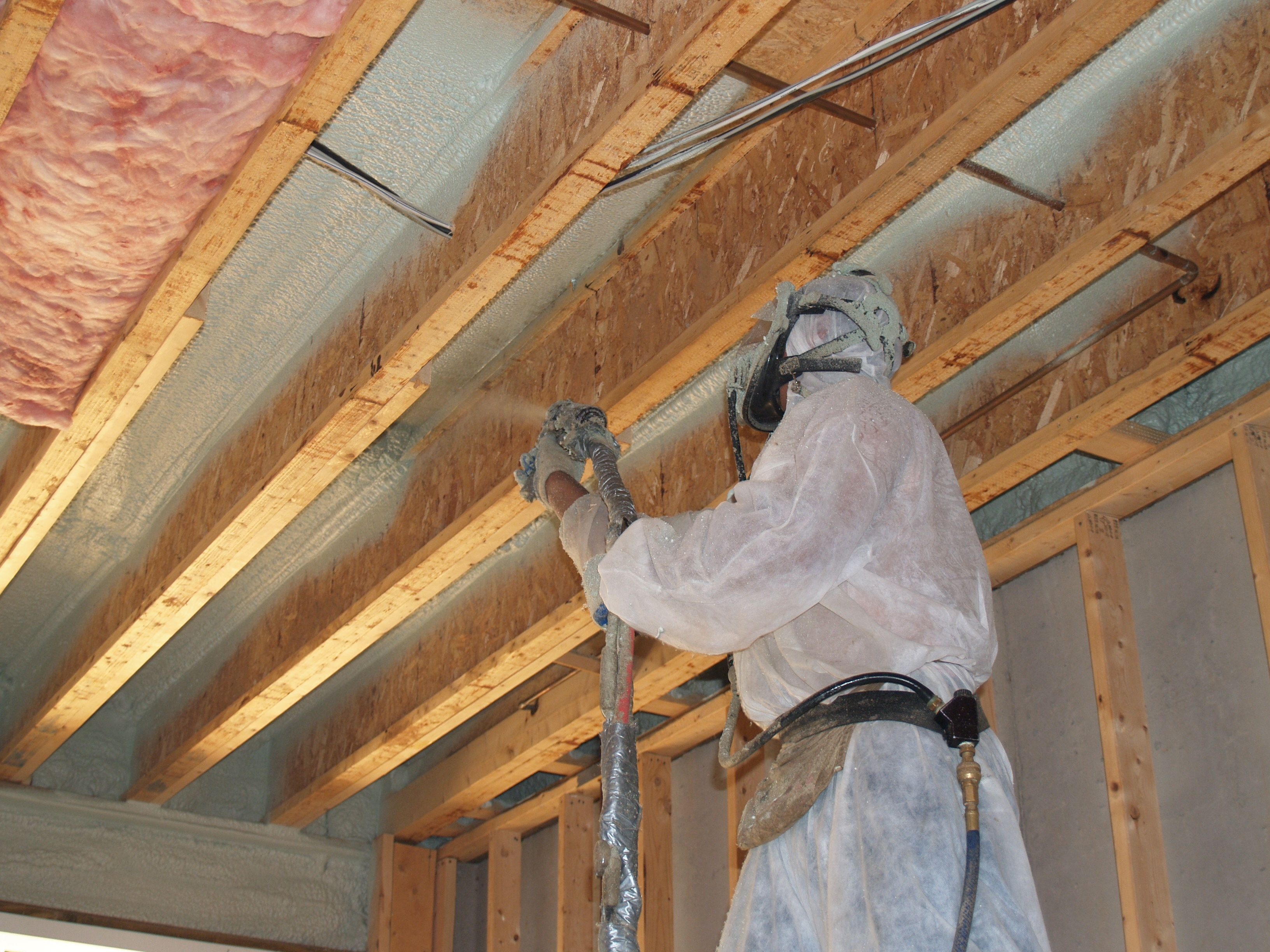 Closed Cell Spray Foam Insulation Used As An Air Barrier For