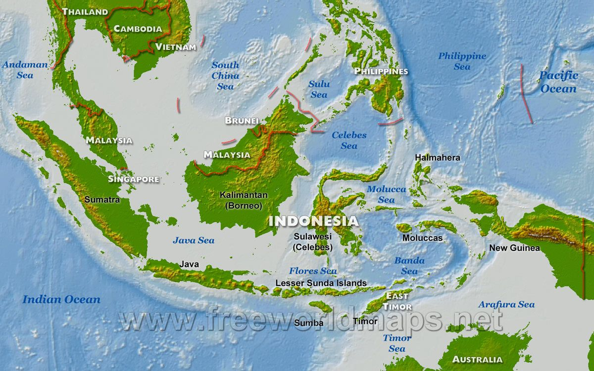 Java indonesia physical map of indonesia indonesia java java indonesia physical map of indonesia gumiabroncs