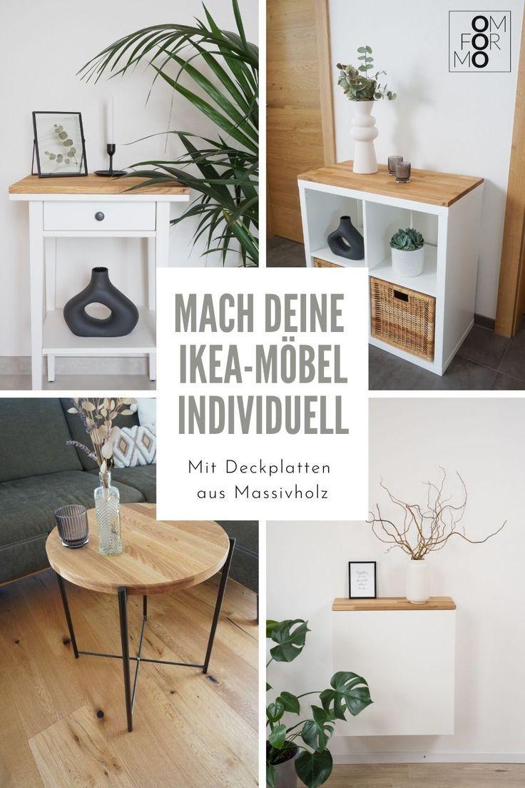 Individuelle Ikea-Möbel mit Deckplatten aus Massivholz