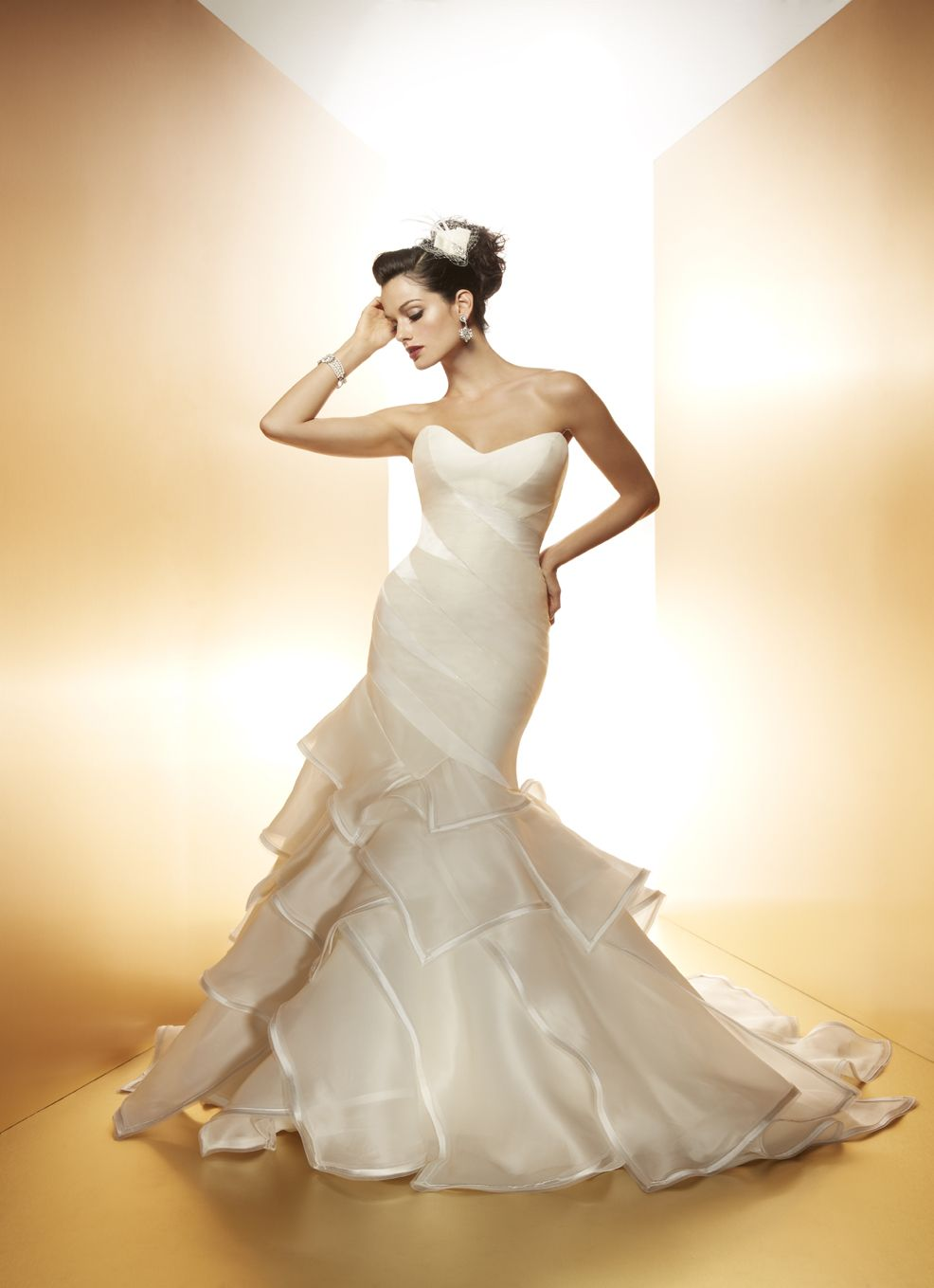 The Tiger Lily Gown / Matthew Christopher Wedding Couture / #Wedding #Bride