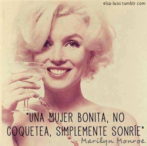 Frases Español Marilyn Amor Sonrisa Frases Versos Y