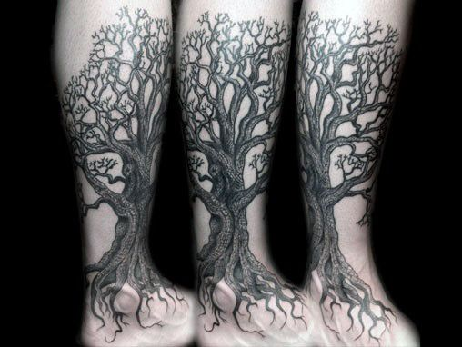 60 Tree Roots Tattoo Designs For Men Manly Ink Ideas Tree Leg Tattoo Tree Tattoo Calf Oak Tree Tattoo