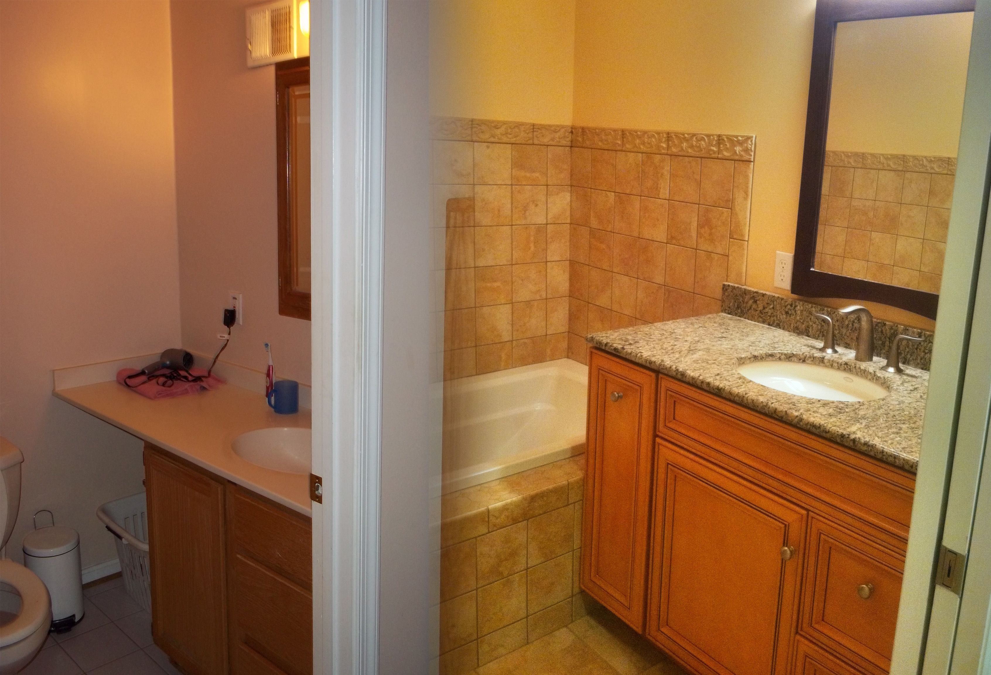 1960s bathroom renovation before and after for Remodeling companies