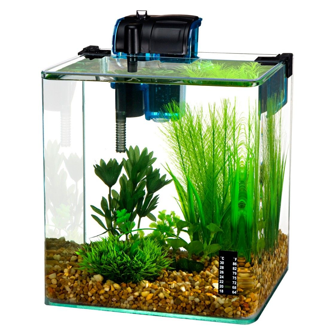 Water world vertex desktop 2 7 gallon aquarium kit from for Saltwater fish tank kit