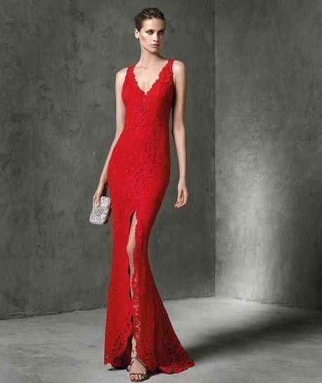 Vestidos rojos largos pronovias
