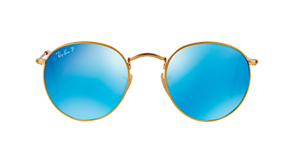 RAY BAN RB 3447 GOLD WITH BLUE MIRROR POLARIZED LENS - - Sunglasses ... 881c648c14