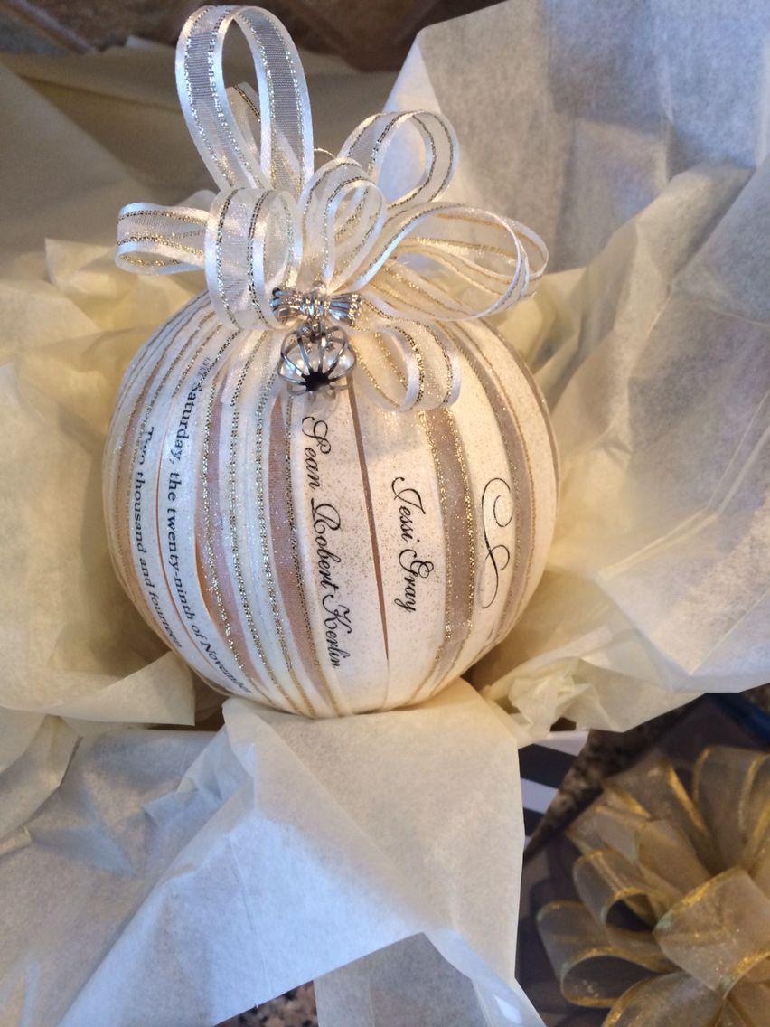 Wedding invitations christmas ornament