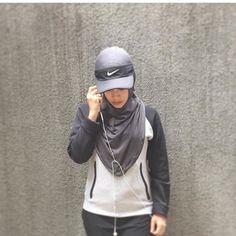 Sports Hijab Sportwear Hijab Gym Outfit Hijab Hijab Fashion Hijab Turban Style Sports Hijab
