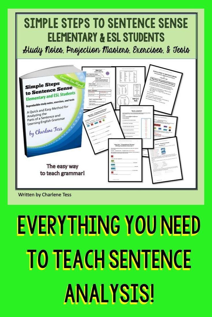 Elementary And Esl Simple Steps To Sentence Sense Grammar