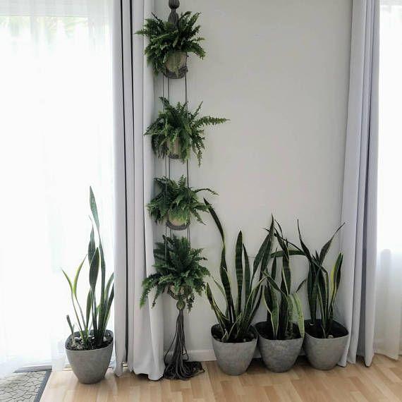 Multiple Plant Hanger Macrame Plant Holder Hanging Shelves
