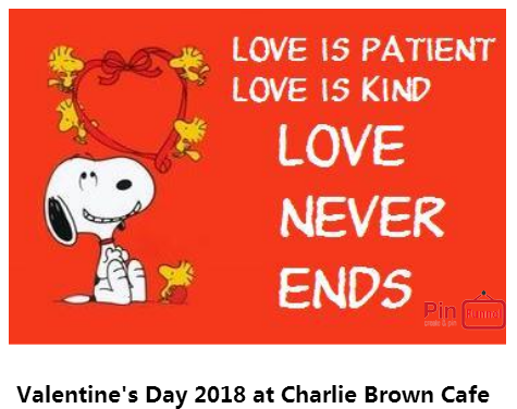 Valentine's Day 2018 in Singapore at Charlie Brown Cafe, located
