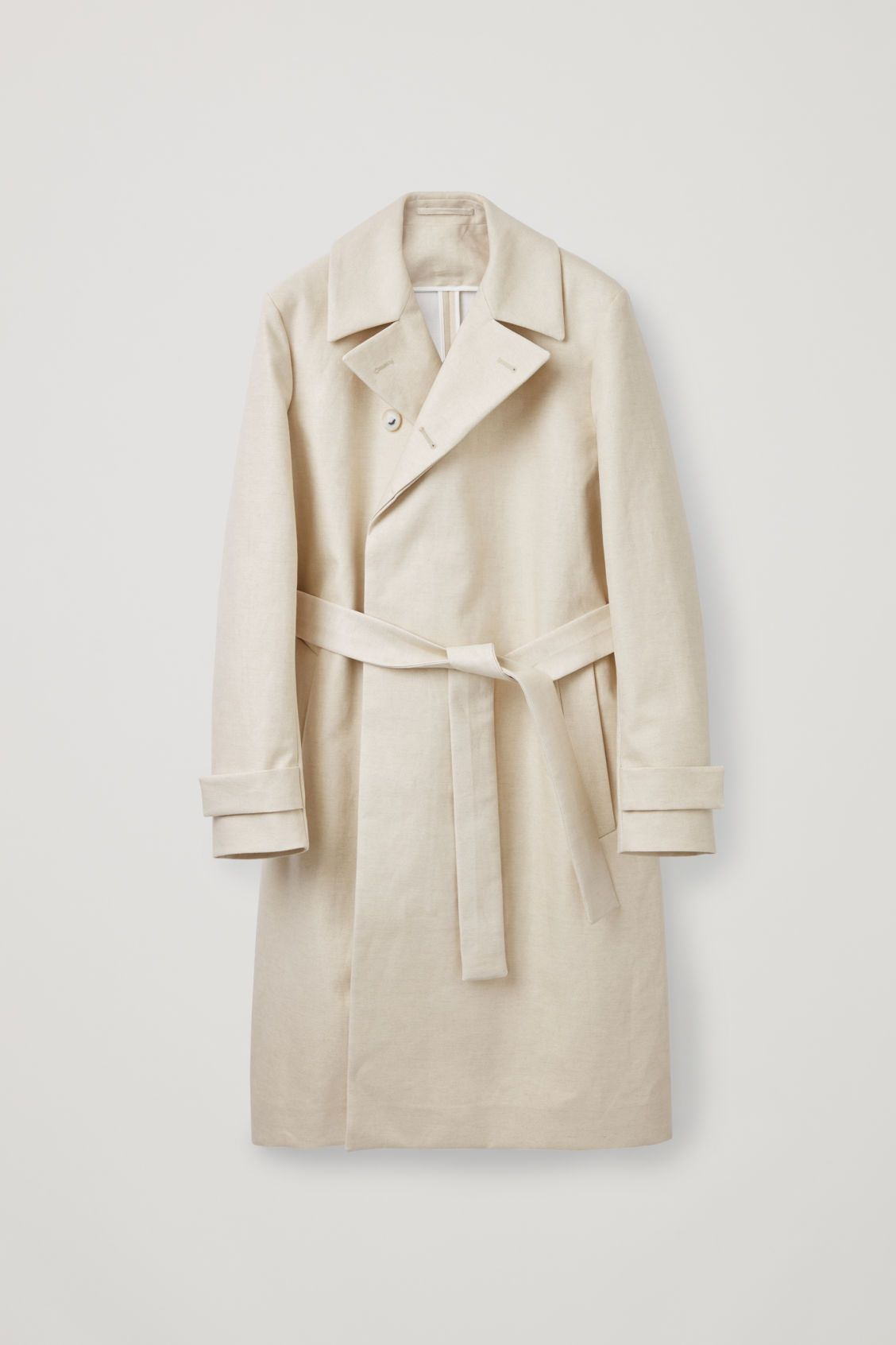 29e5cd4e52d3 BONDED-LINEN TRENCH COAT - Calico - Coats and Jackets - COS