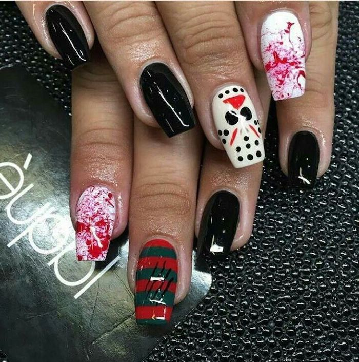1001 + ideas for awesome and spooky Halloween nails ...