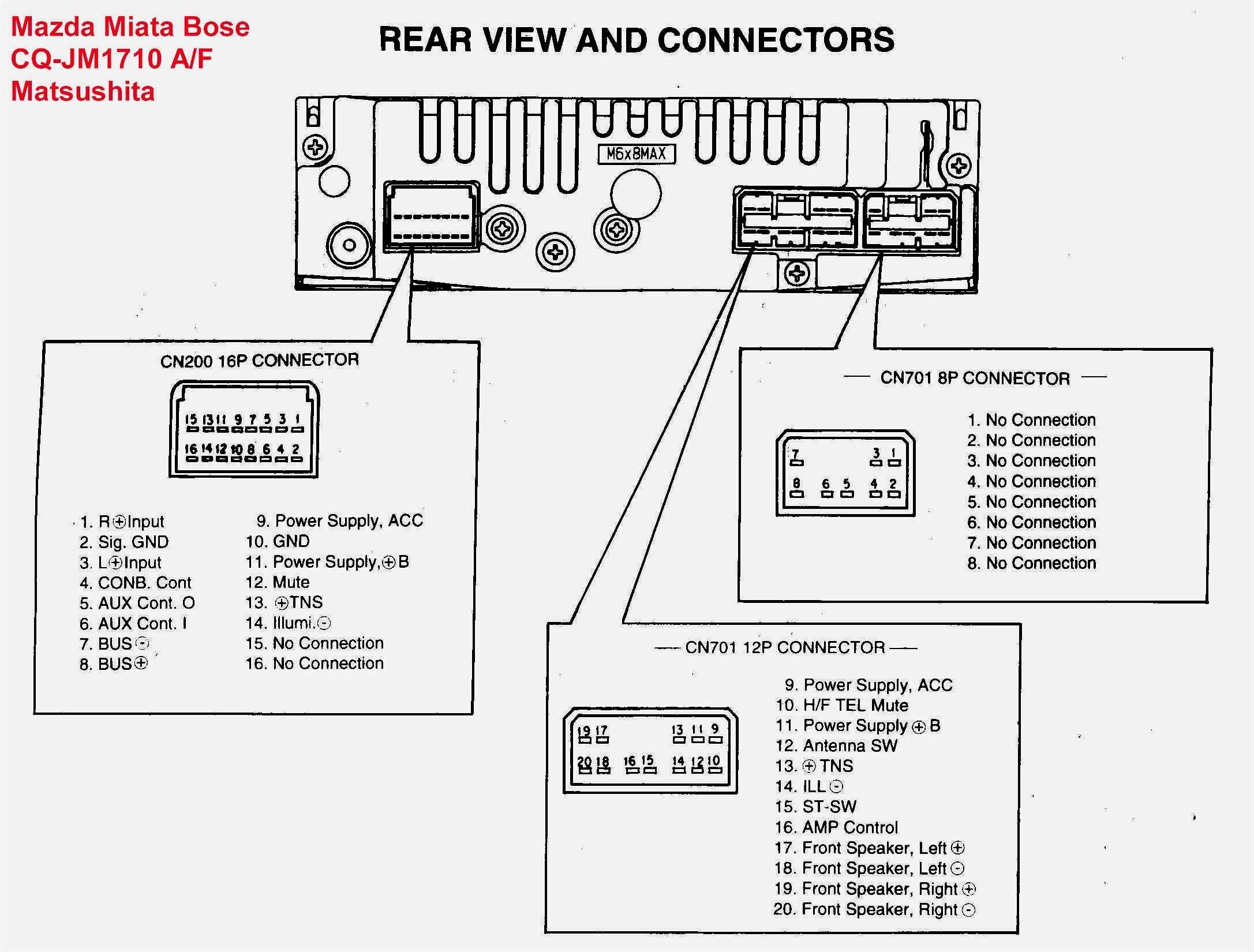 Car Stereo Repair Wire Harness Codes Bose : Ve Series 1