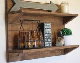 Rustic Wooden Shelf Rustic Wood Shelf Rustic Home Decor ...