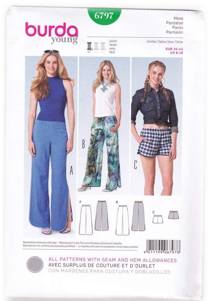 Burda Ladies Easy Sewing Pattern 6928 Straight /& Flared Skirts Burda-6928