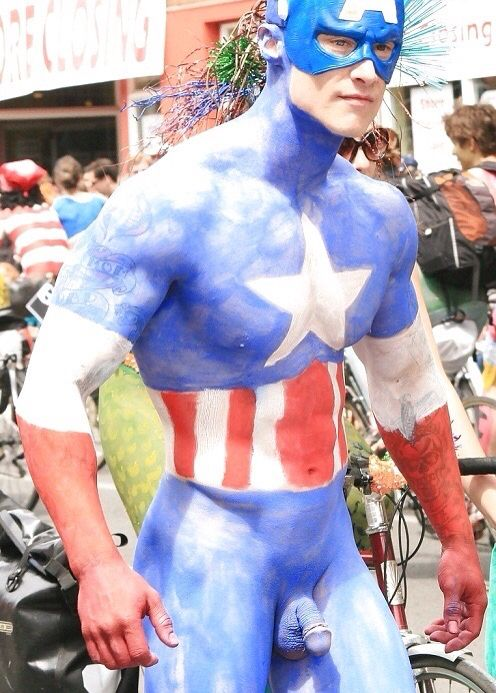 Real captain america nude