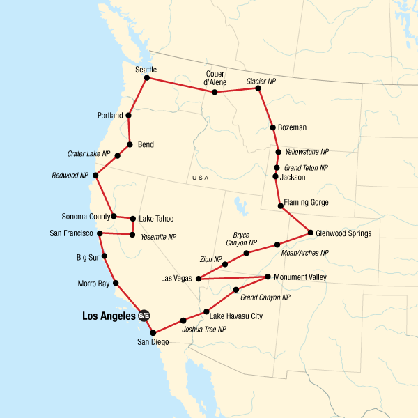 Epic West Coast Road Trip