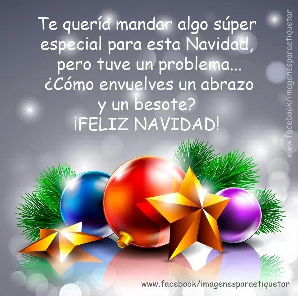 Feliz navidad con abrazote y besote para - Felicitaciones de navidad sencillas ...