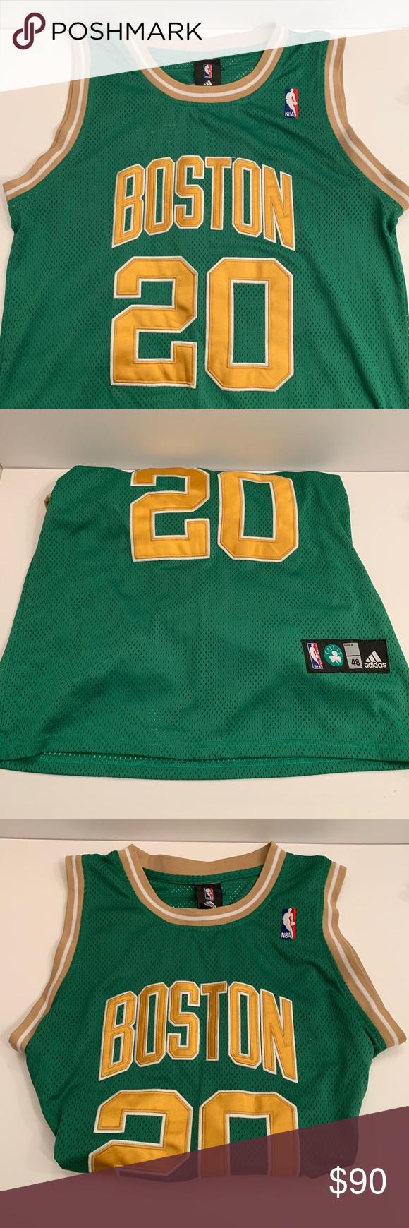 Adidas Authentic Boston Celtics Ray Allen Jersey M Clothes Design Boston Celtics Adidas Shirt