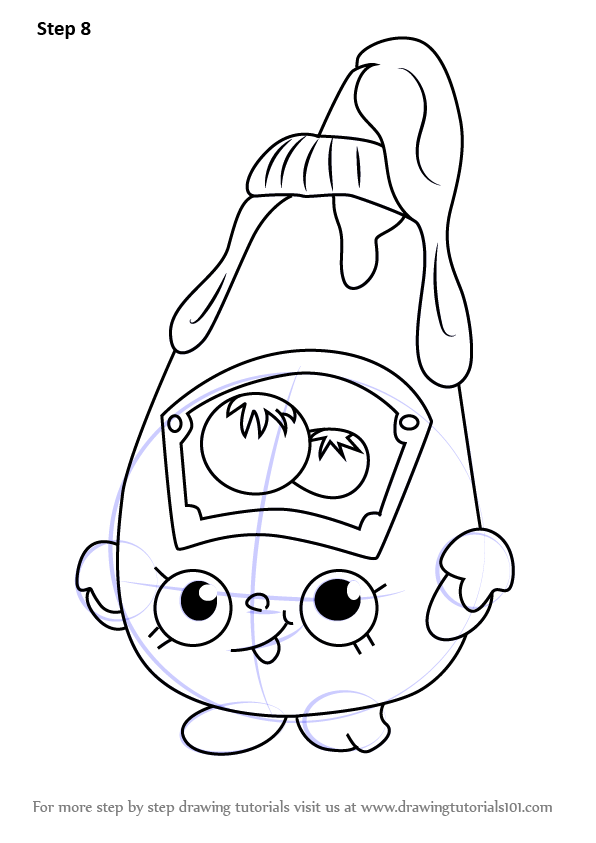 shopkins season 6 coloring pages - learn how to draw tommy ketchup from shopkins shopkins