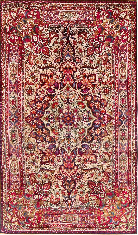 Antique silk kerman rug by aboul ghasem kermani 47591 for Tapetes orientales
