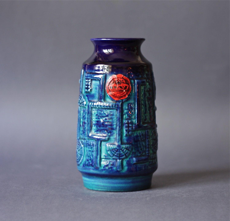 Vintage west german pottery cobalt blue vase by bay keramik the vintage west german pottery cobalt blue vase by bay keramik reviewsmspy