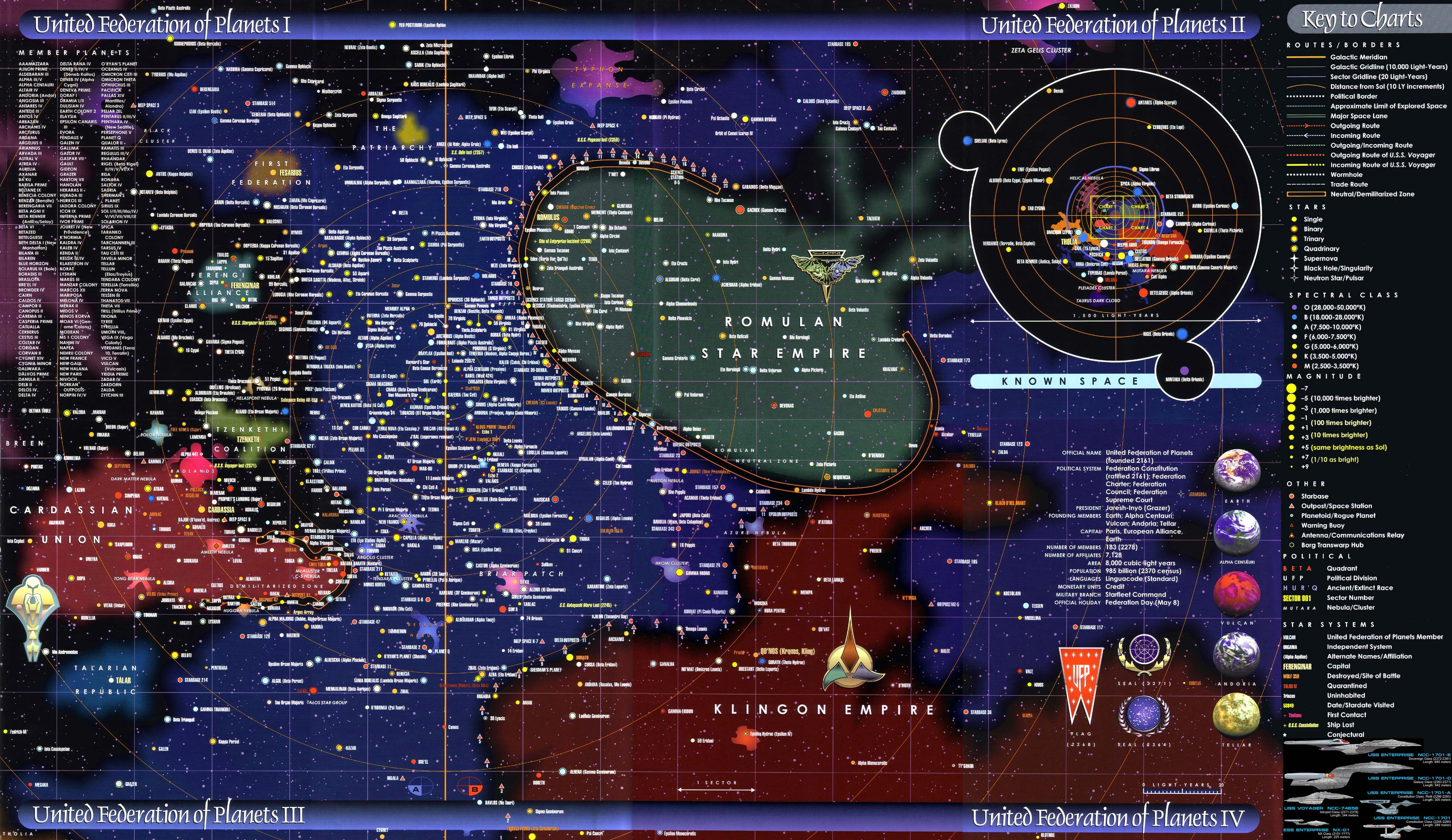 Federation Of Planets Iv Map Star Trek Their Maps Are Not