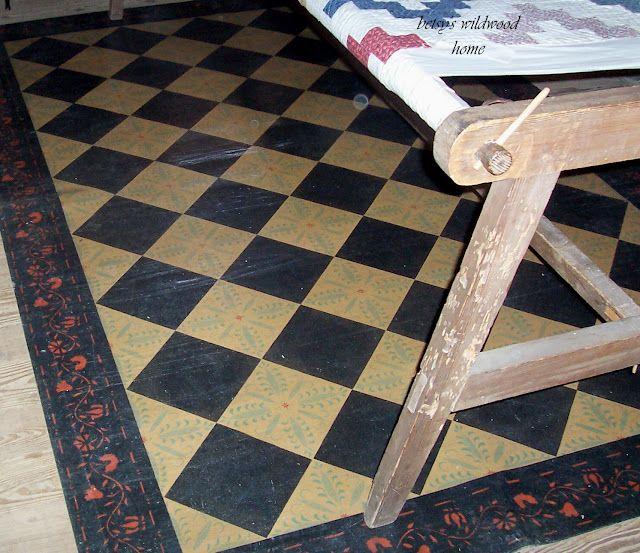 Painted Kitchen Floor Cloth: Painted Floor Cloths, Floor Cloth, Painted Rug