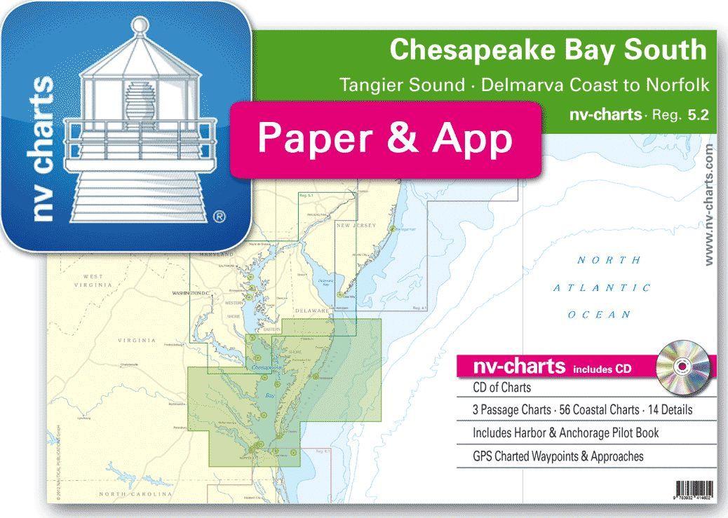 NV-Charts Reg. 5.2: Chesapeake Bay South, Tangier Sound, Delmarva Coast to Norfolk