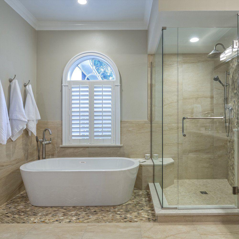 Woodbridge Freestanding Bathtub, 100% Acrylic Bath Tub, High Glossy ...
