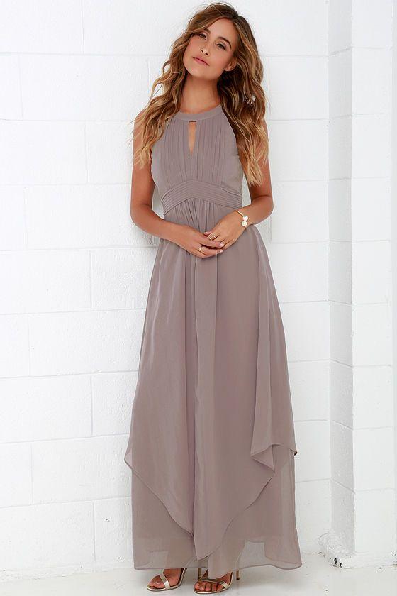 Dream Girl Taupe Maxi Dress Taupe Maxi Dress Maxi Dress Formal Maxi Dress
