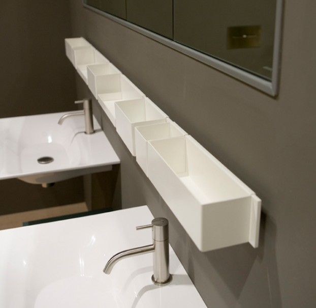 Lacquered matt white, stainless steel bathroom accessories from ...