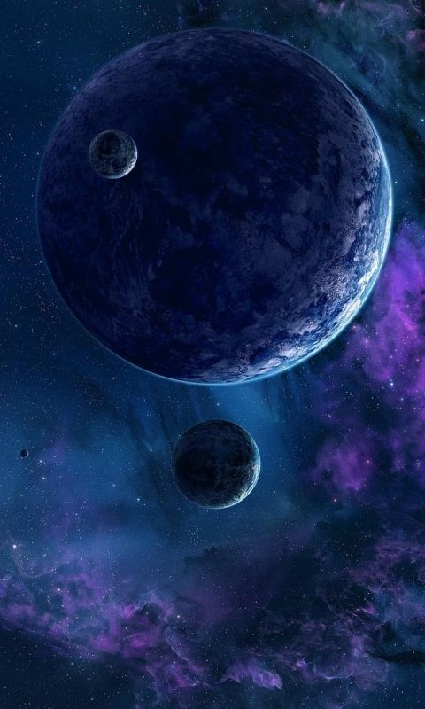 Download Wallpaper 480x800 Planets Stars Nebula Universe HTC Samsung Galaxy S2 2 Ace HD Background
