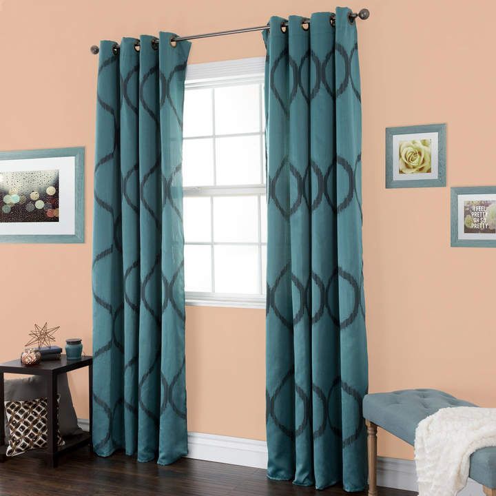Portsmouth Home Metallic Window Curtain Set Curtains Window