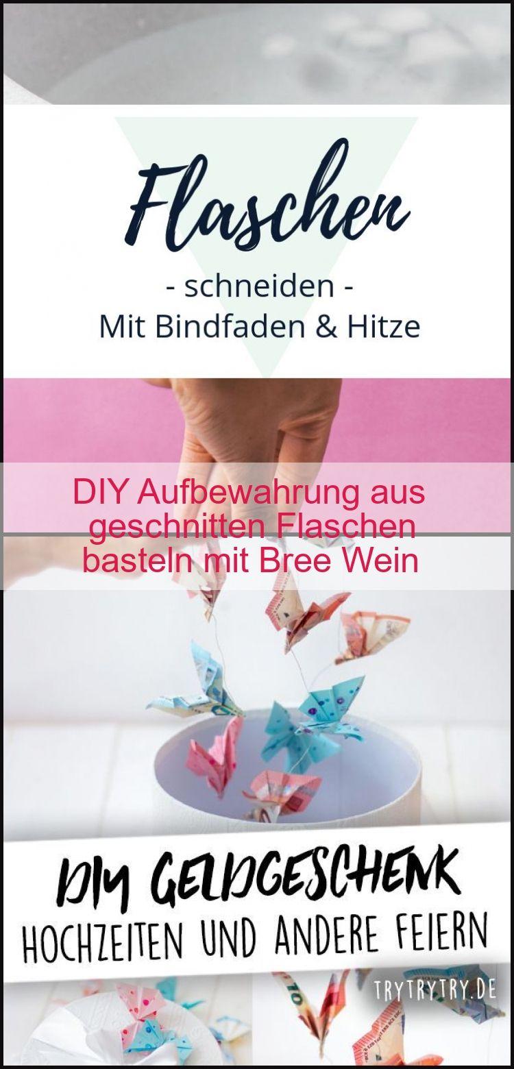 DIY Aufbewahrung aus geschnitten Flaschen basteln mit Bree Wein,  #Aufbewahrung #Aus #Basteln…