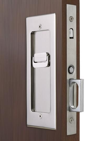 Privacy set modern emtek heavy duty pocket door mortise - Interior door privacy mortise lock ...
