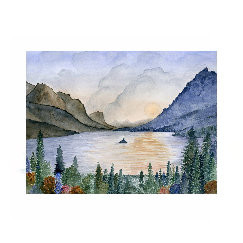 Glacier National Park Poster National Park Posters National