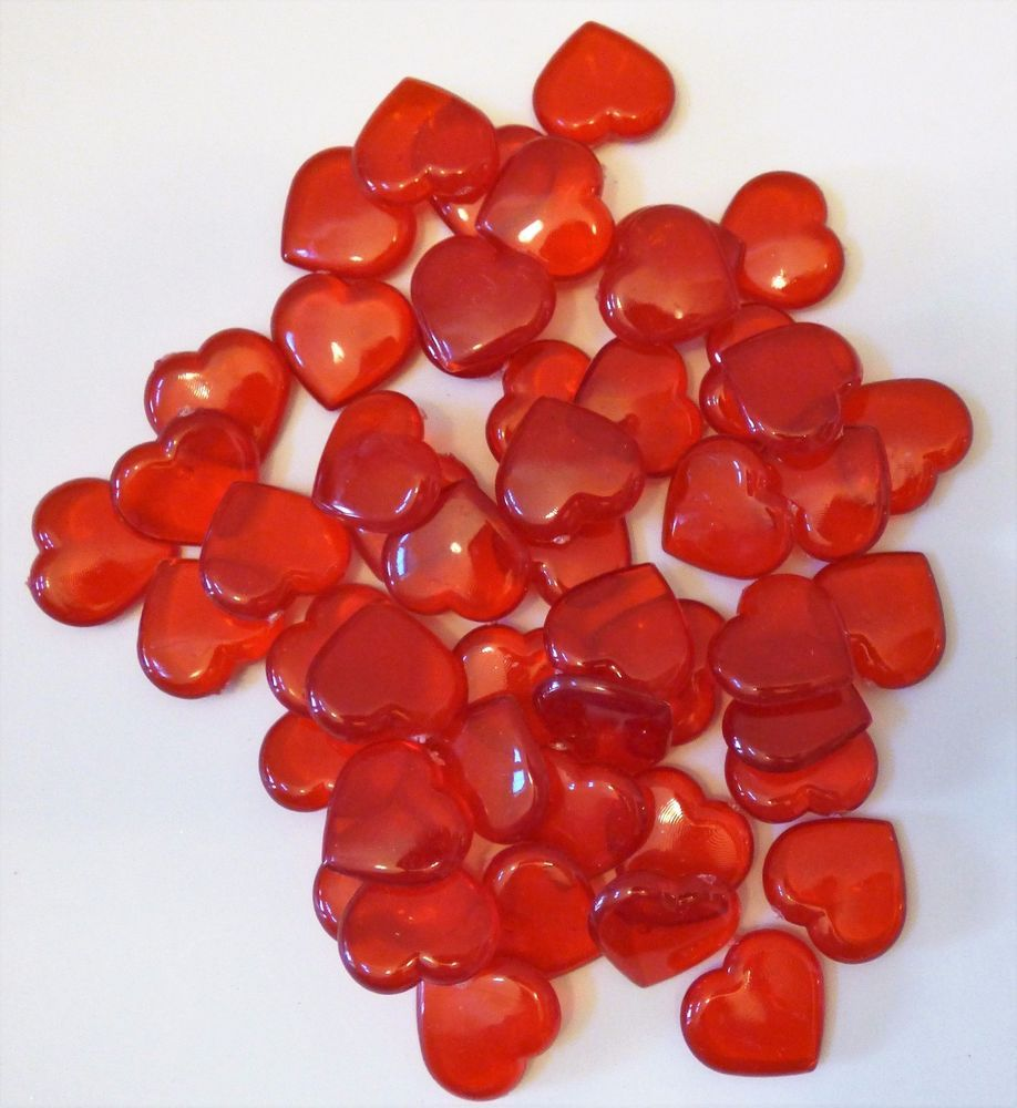 Details about valentines acrylic 50 heart shape gems vase filler acrylic 50 heart shape gems vase filler confetti table scatter valentine ebay reviewsmspy