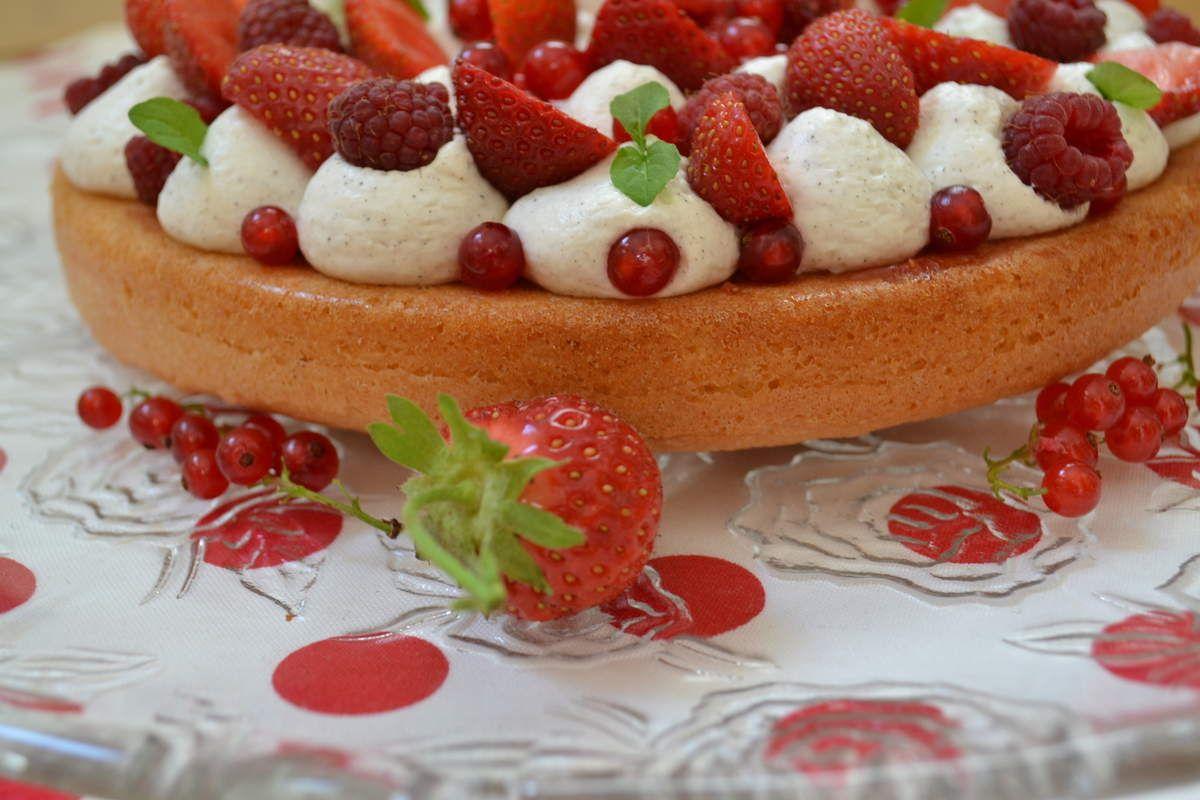 Le gâteau Fantastik de MIchalak circule de blog en blog. C'est vrai ll est superbe avec tous ces beaux fruits dessus ! Pour nos invités j'avais envie de faire un dessert simple mais bon avec des fruits : mon choix c'est porté sur ce magnifique gâteau...
