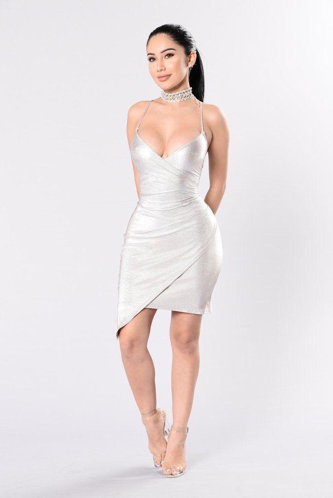 Inner Shine Dress – Silver