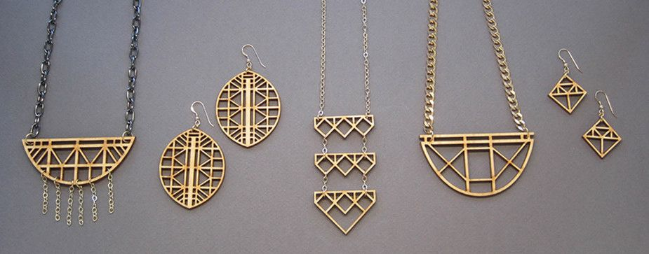 Pin on laser cut wood jewelry