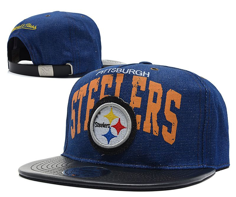 a09a390b4ae NFL PITTSBURGH STEELERS SNAPBACKS Mitchell And Ness Snakeskin Navy ...