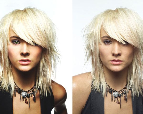 25 Fabulous Hairstyles For Oblong Faces Slodive Medium Hair Styles Punk Hair Medium Scene Hair